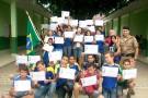 Polícia Militar certifica 404 alunos no currículo PROERD para adolescentes em Mantena