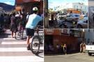 Duas mulheres ficam feridas em acidente envolvendo carro e moto em Mantena