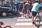 Acidente envolvendo carro e moto deixa duas pessoas feridas em Mantena