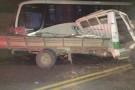Acidente grave entre ônibus e caminhão foi registrado em Vila Pavão