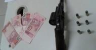 PM detém um homem, apreende arma e munição durante patrulhamento no bairro Colina – Barra de São Francisco