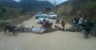 NV x BSF: moradores fecham estrada para protestar contra poeira deixada por carretas