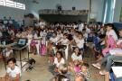 Escola Municipal Santo Antônio ministra palestra para os alunos com o tema: Consciência no Campo, Saúde para Todos