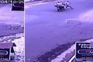 Vídeo mostra momento de um atropelamento no bairro Vila Nova em Mantena