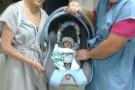 Bebê de grávida atropelada em calçada recebe alta médica, no ES