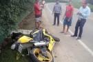 Motociclista se envolve em acidente próximo a Toledo Mineração