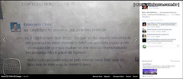 SiteBarra+Barra+de+Sao+Francisco+ameaca vereador emerson lima jorginho sanfoneiro0