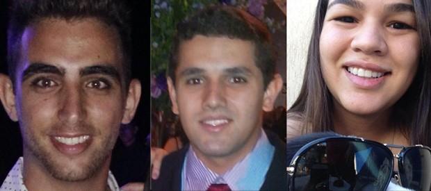 Thiago Colodetti, de 20 anos, Arthur Nunes, de 20 anos e Thamy Marques, de 22 anos, foram presos em flagrante por furto em shopping de Vila Velha (Foto: Reprodução/ Facebook)