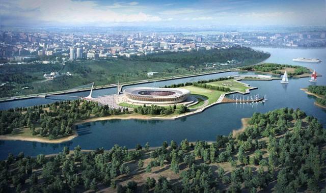 Estádio em Nizhny Novgorod, para 44.899, tem um projeto muito diferente (Foto: Divulgação)