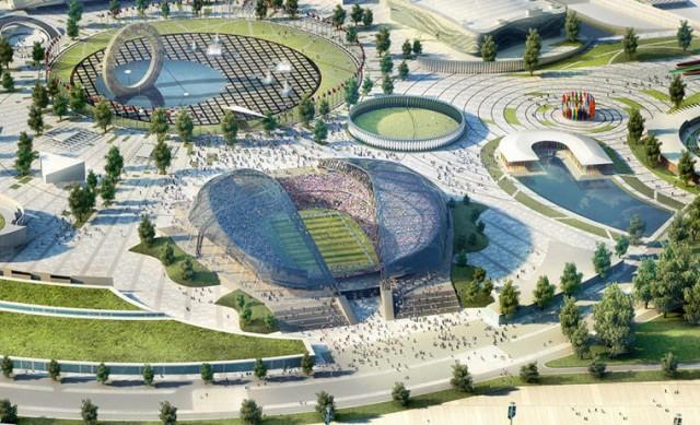 Estádio em Sochi deve ter capacidade para 47.659 pessoas. Foi sede dos Jogos Olímpicos de Inverno. (Foto: Divulgação)
