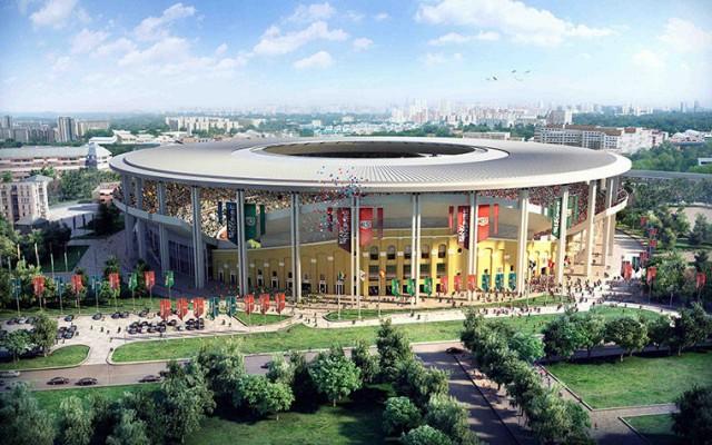 O estádio de Yekaterinburg terá capacidade para 44.130 pessoas. A cidade fica na fronteira com o Cazaquistão e te uma população de 1,3 milhão de pessoas (Foto: Divulgação)